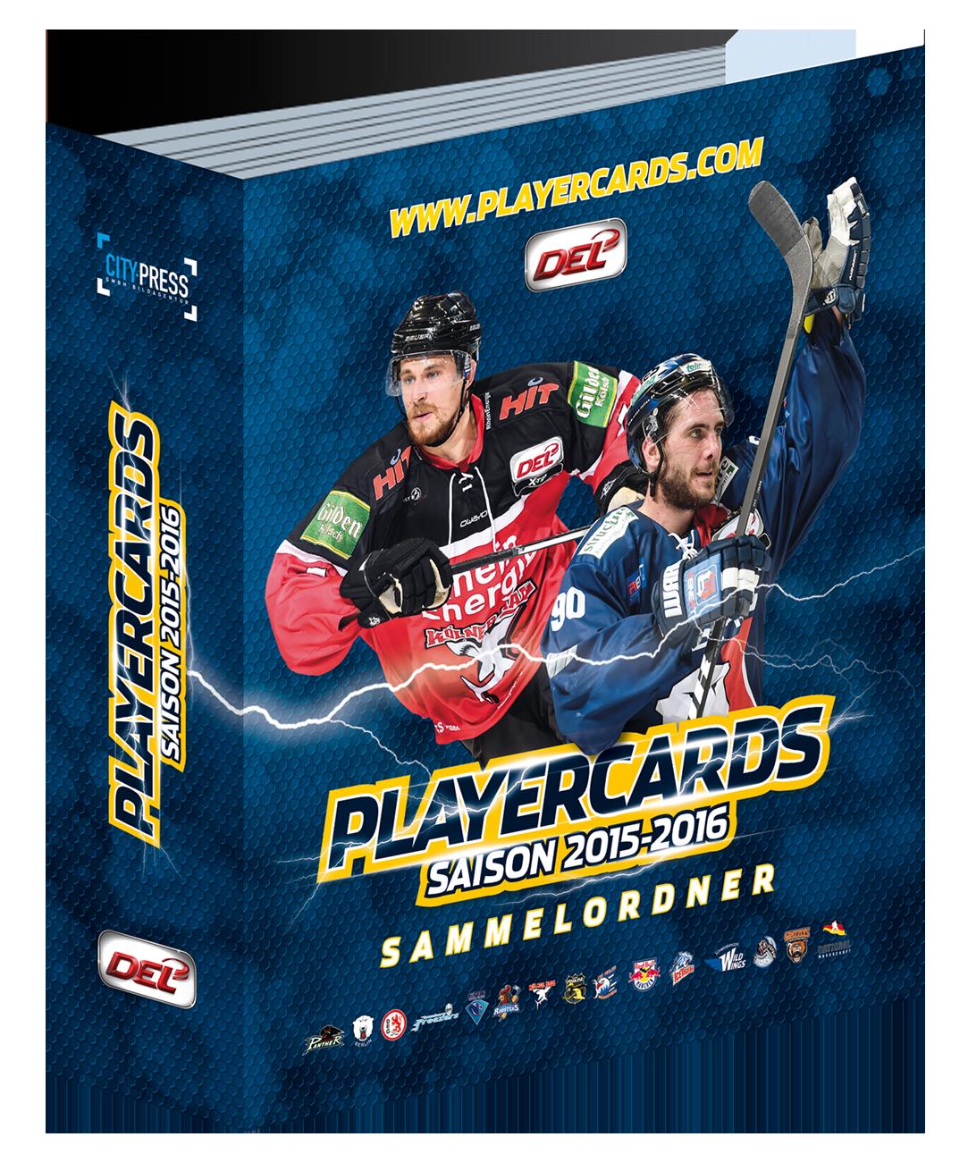 DEL Playercards Sammelordner - 2015/2016