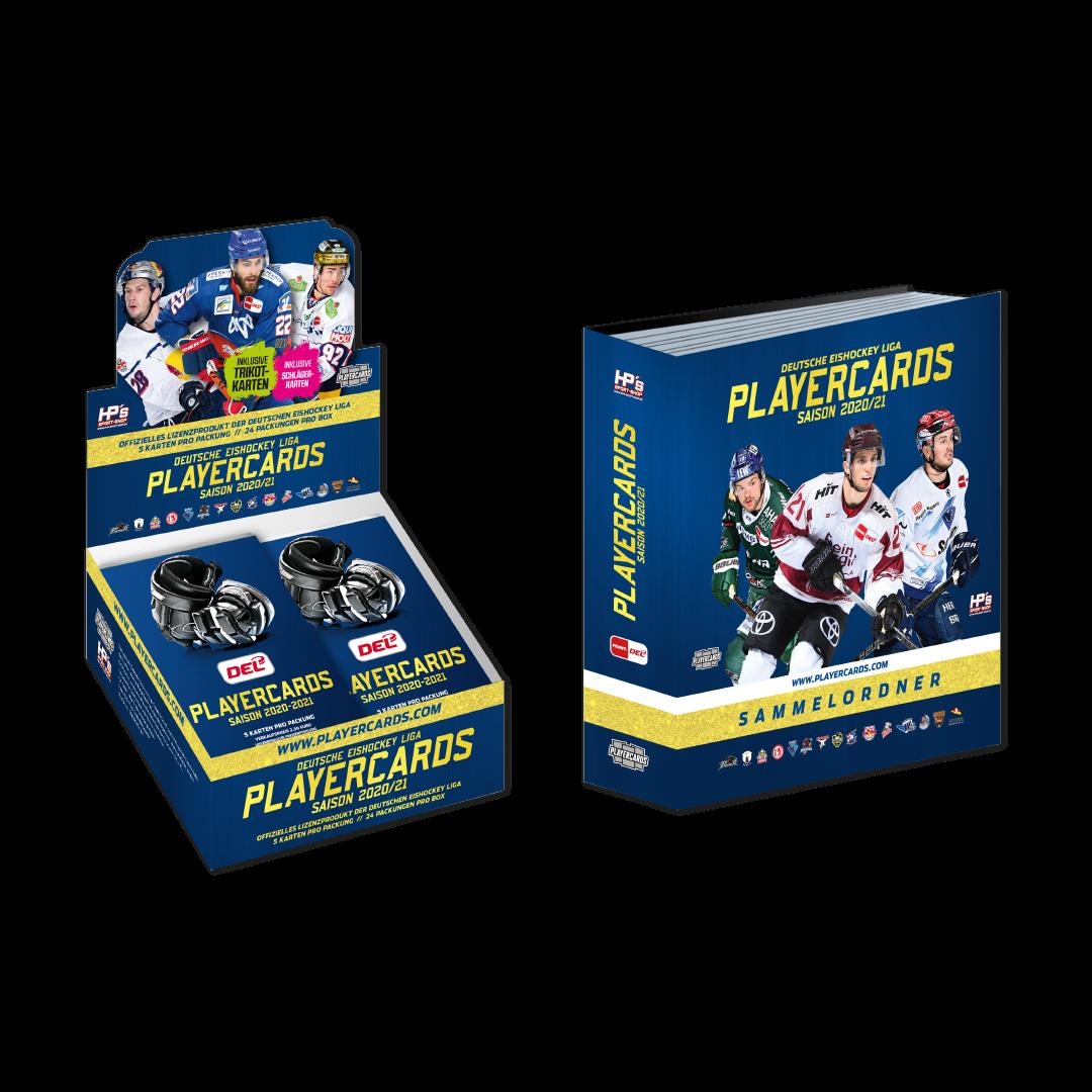 PLAYOFF ANGEBOT - DEL Playercards Box & Sammelordner 2020/21