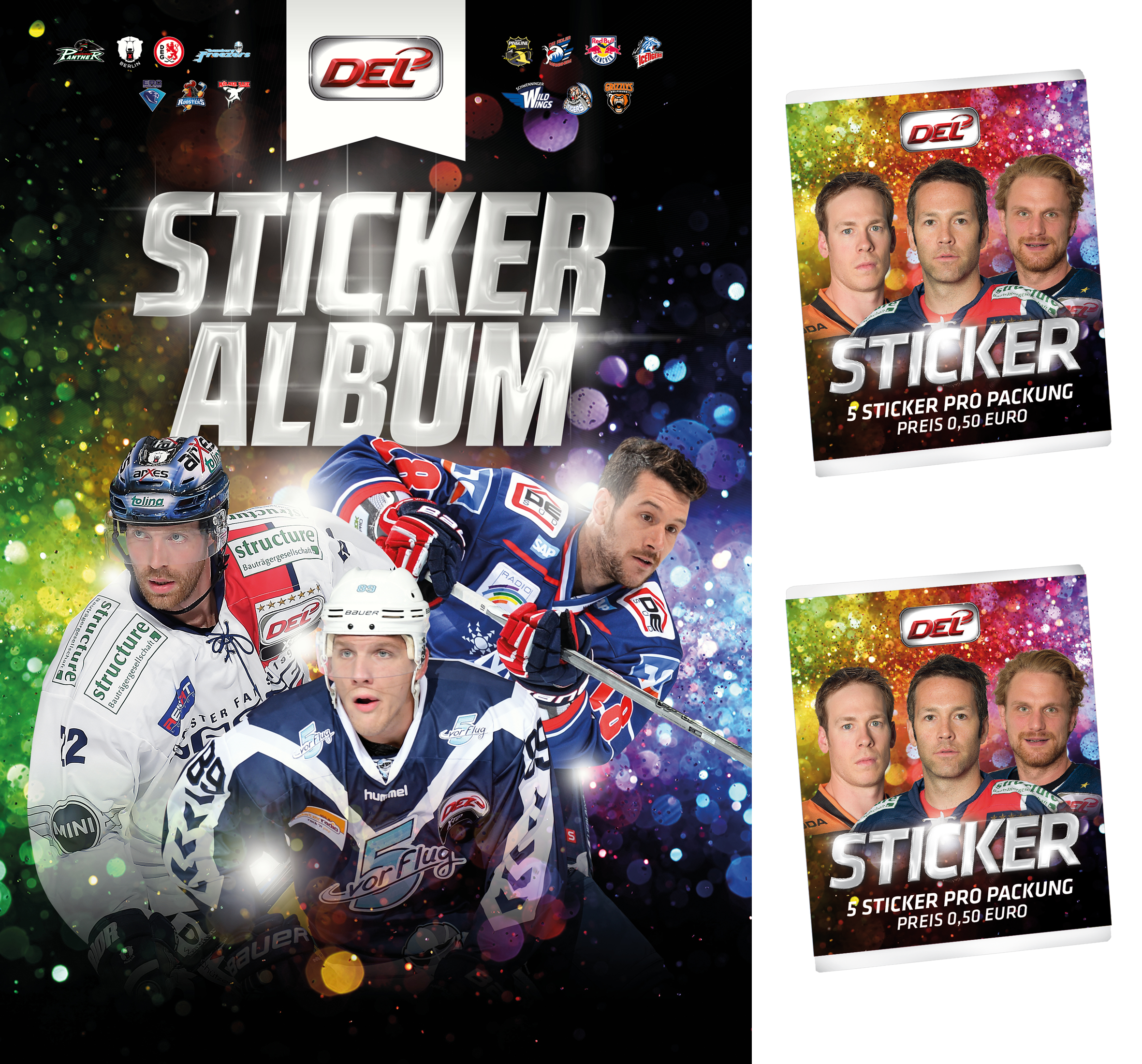 DEL Sticker Sammelalbum 2015/2016 + 10 Sticker