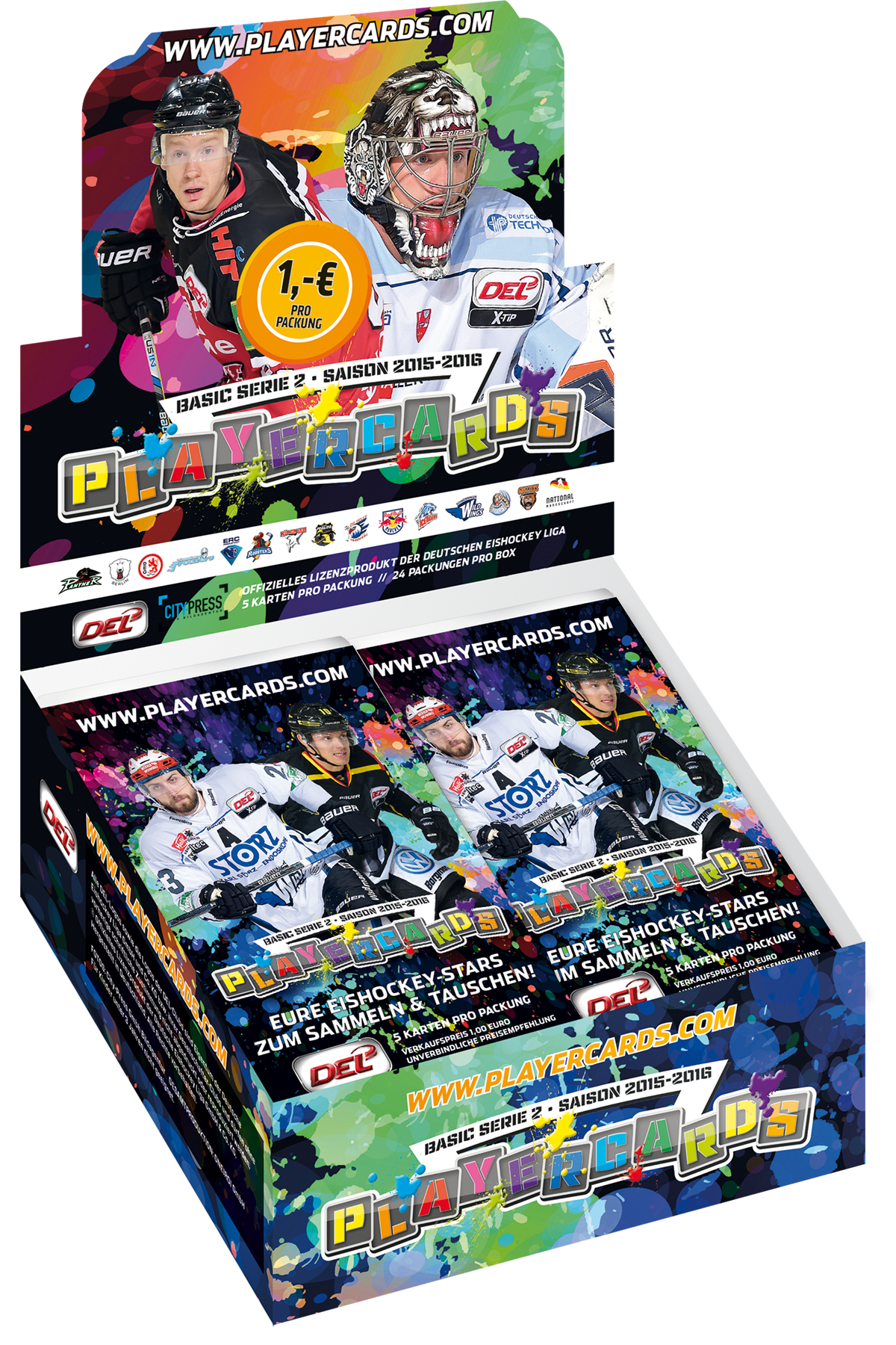 DEL Playercards Box Basic Serie 2 - 2015/2016